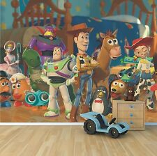 Disney Toy Story wallpaper mural style 2 childrens bedroom feature wall