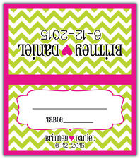 Chevron - Personalized Custom Place/Escort Cards - Wedding/Shower/Birthday