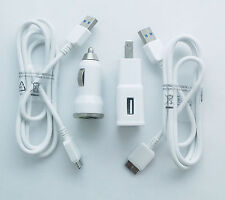 OEM 2A Wall Charger + 2.1A Car Charger + 2x 3.0 USB Cable for Samsung Galaxy USA