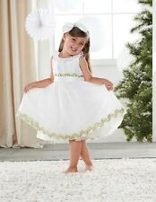 Mud Pie Ivory Ric Rac Dress Holiday Christmas Toddler Girls Outfit 3T 4T New NWT