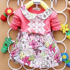 HOT Baby Girls Clothes Kids Toddlers Tulle Bow Floral Princess Tutu Dress 0-24M