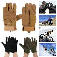 Motorcycle Full Finger Airsoft Military Tactical Cycling Knuckle Gloves M L XL