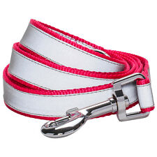 Blueberry Pet Reflective French Pink Durable Nylon Standard Dog Leash Lead