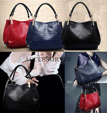 Women's Ladies Designer Textured Celebrity Tote Shoulder Bag Satchel Handbag