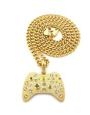 "New Iced Out Game Controller Pendant &5mm/24"" Cuban Link Chain Necklace MSP379CC"