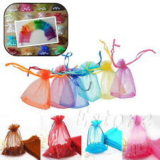 10/50/100 Drawstring Organza Jewelry Gift Pouch Bags Wedding Christmas