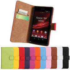For Sony Xperia SP M35H C5302 C5303 magnetic Leather wallet Cover stand Case
