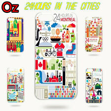 24 Hours in Cities Cover for Sony Xperia Z2, Unique Design Case WeirdLand