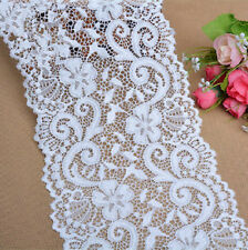 "10 yards 6"" Wide Polyester Stretch Embroidery Floral Lace"