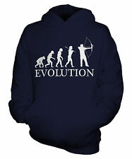 ARCHERY EVOLUTION OF MAN KIDS HOODIE BOYS GIRLS CHILDRENS GIFT BOW AND ARROW