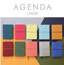 New AGENDA Large Diary Undated Diary Planner Organizers_Synthetic Leather
