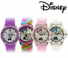 Disney Women's Minnie Mouse Moving Hands Rubber Strap Watch Choice of 4 Color
