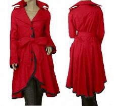 High low Irregular hem Belted long Trench Coat TFMJ018 plus sz 1x-10x (SZ16-52)