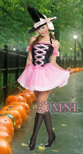 Brand NEW Halloween Costume Pink & Black Fancy Dress Size 6 8 10 12  14 16