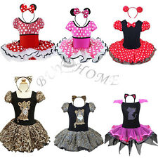 Xmas Kids Girls Baby Toddler Minnie Mouse Party Costume Ballet Tutu Dress Up