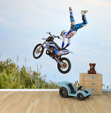 Extreme Sports Motocross Trick photo wallpaper mural feature wall design wm338