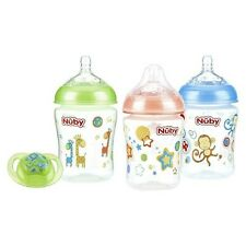 Nûby Natural Touch 3pk Printed Bottle with Comfort Pacifier - 0-6 Month...
