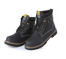Mens Ankle Boots Lace Up Casual Comfort Winter Warm Fashion Military Snow Shoes