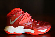 New! Womens NIKE ZOOM SOLDIER VII LEBRON JAMES Basketball Shoes Red/Crimson