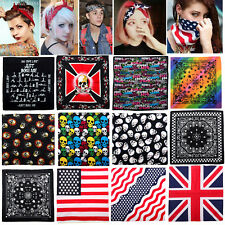 New Unisex 100% Cotton Paisley Bandanas double sided head wrap scarf wristband!!