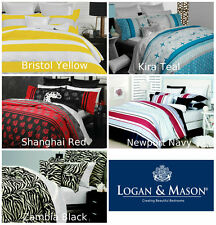 Logan & Mason Casual Living Doona Duvet Quilt Cover Set Single Double Queen King