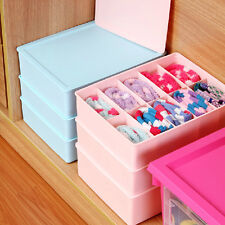 3Color Option Plastic Underwear Bras Socks Storage Organizer Box Bag Case