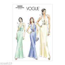V8191 OOP Vogue Sewing Pattern Formal Evening Gowns Dresses New Year's Party