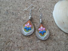ALPACA PERUVIAN JEWELLERY EARRINGS EXQUISITE SILK THREAD *OFFER 2 x £5* FREEPOST