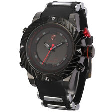 U.S.A SHARK LED Dual Core Date Day Alarm Steel Silicon Army Mens Sport Watch