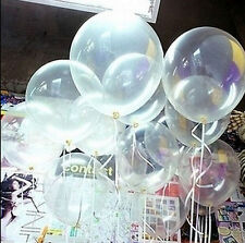 "20/50/100Pc 10"" Transparent Latex Balloons Birthday Wedding Party Decor"