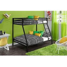 Twin over Full Metal Bunk Bed Kids Furniture Bedroom Loft with Ladder Beds NEW