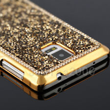 For Samsung Galaxy Note 4 3 Bling Diamond Crystal back Electroplate Case Cover