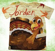Personalized thanksgiving turkey t-shirt, girls or boys thanksgiving T-shirt