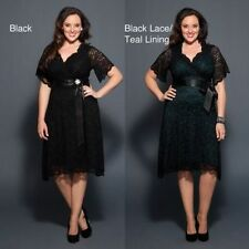 Plus Size Black Lace Mother of the Bride Dress Wedding Party Bridesmaids Gowns