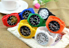 Korea Retro Jelly Color Rubber Band Girl's Boy's Quartz Movement Wrist Watch