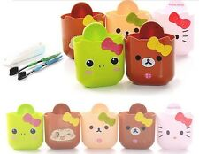 Hello Kitty Toothbrush Holder Bathroom Wall Rack Suction Cup Hanger Basket Cute
