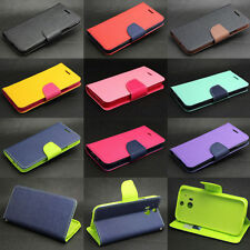 Dual Color Wallet Leather Flip TPU Case Cover Stand For Various HTC Phone Luxury