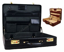 High Quality Genuine Leather Briefcase Executive Business Bag Work Briefcase New