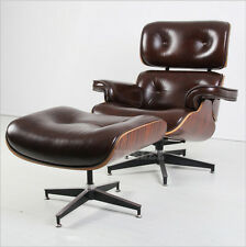 New Eames Modern Style Leather Lounge Chair And Ottoman