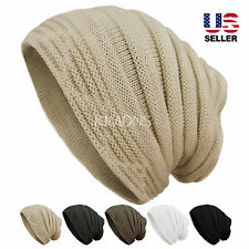 Casual Knit Slouchy Baggy Beanie Oversize Winter Hat Ski Slouchy Cap Skull