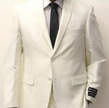 New Men's Imani Uomo Offwhite tone on tone Slim Fit 2 Button Suit With Vest