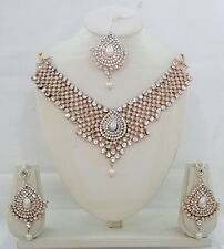 Swarovski Diamante Studded Indian Designer Bridal Jewellery Necklace Sets