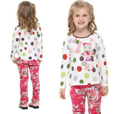 Babys Kids Tops Girls Clothes T-Shirts Colorful Cartoon Embroid Collar Size 1-6Y