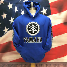 YAMAHA RACING TEAM BLUE HOODIE HOODED SWEATSHIRT ALL NEW