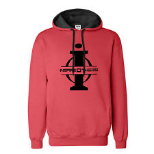 "Big and Tall Hoodie LT – XXXLT "" InspireOthers"" Red Black Fleece Sweatshirt"