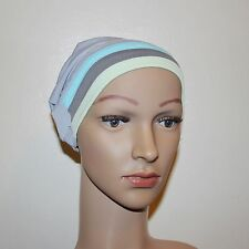 Lycra Cap Bonnet Hijab under scarf NEW custom fit Black Stripe