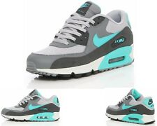 Nike AIR MAX 90 ESSENTIAL 537384 033 Grey Blue Trainers UK 6 - 11