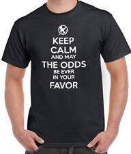 HUNGER GAMES KEEP CALM AND MAY THE ODDS BE EVER IN YOUR FAVOR T-SHIRT TSHIRT