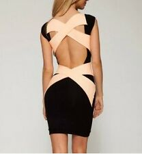 Sexy Ladies Cross Bandage Back Slim Party cocktail Bodycon Evening Dress
