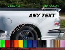 CUSTOM ANY TEXT PERSONALIZED Truck Side Bed DECALS Fender stickers